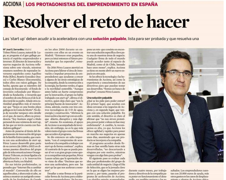 ACCIONA, a Spanish keyplayer in the startup ecosystem